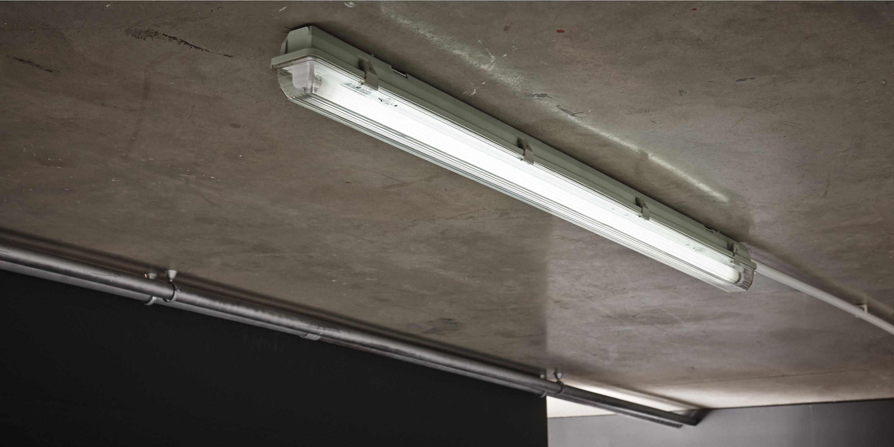 DEL 48 W industrie plafond éclairage ip65 Lumière Du Jour Lampe bacs Garage