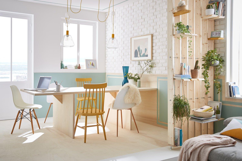 bois clair pour d co scandinave leroy merlin. Black Bedroom Furniture Sets. Home Design Ideas