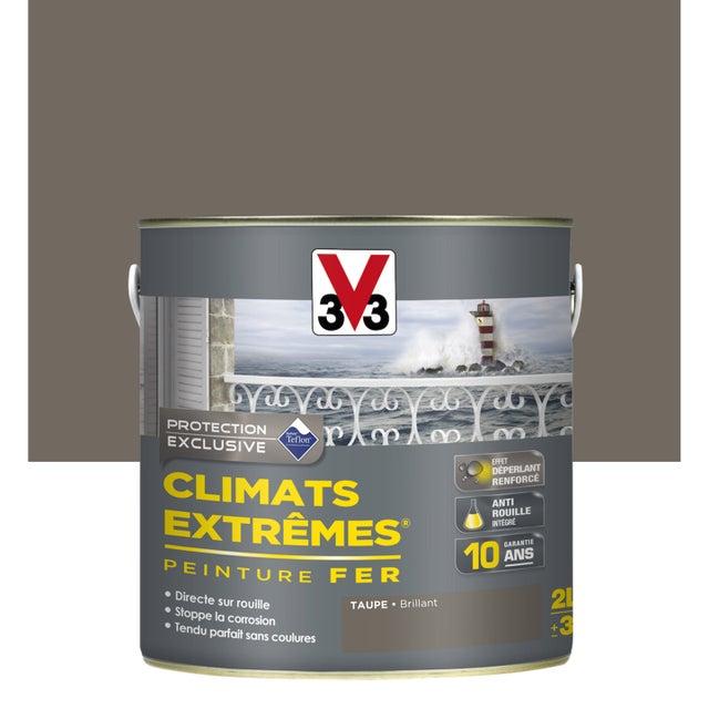 Peinture Fer Extérieur Climats Extrêmes V33 Taupe 2 L