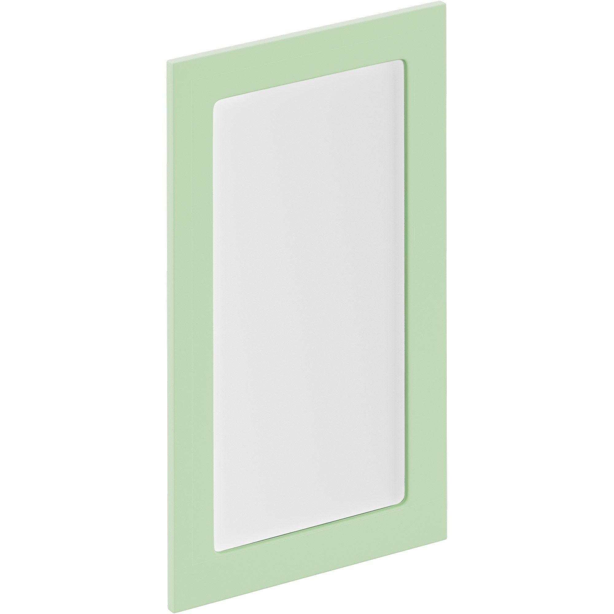 Porte de cuisine vitr e sevilla vert d 39 eau delinia id x cm leroy merlin - Porte de cuisine vitree ...