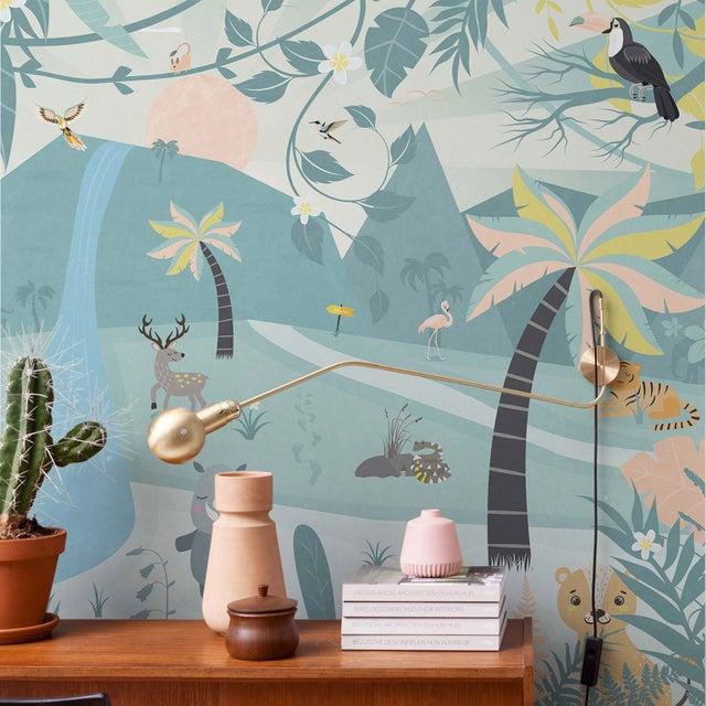 Papier Peint Intissé Smalltalk Tropical Dream Bleu