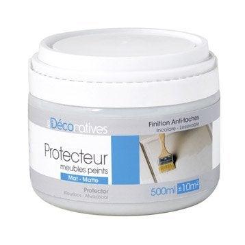 Protecteur, mat, LES DECORATIVES, Meubles peints mat, incolore mat 0.5 l