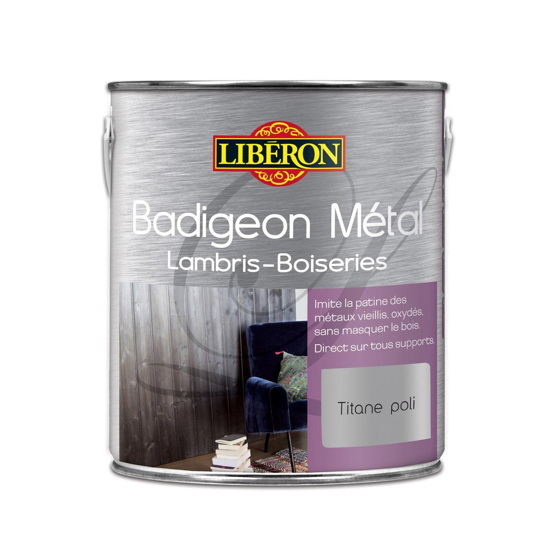 Lasure int rieure poutre et lambris badigeon m tal liberon 2 l carbone fum leroy merlin - Badigeon meuble liberon ...