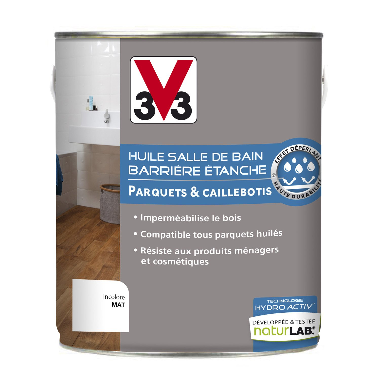 huile salle de bains huile paruqte hydriactiv 39 v33 2 5 l incolore leroy merlin. Black Bedroom Furniture Sets. Home Design Ideas