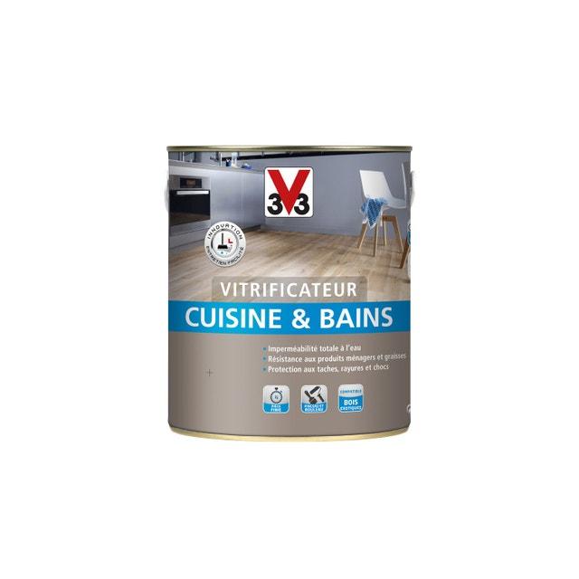 Prot ger le parquet de la cuisine avec un vitrificateur - V33 cuisine et bain ...