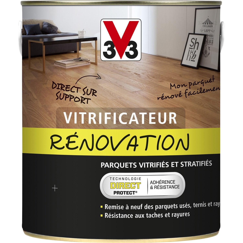 vitrificateur parquet de r novation v33 2 5 l ch ne moyen leroy merlin. Black Bedroom Furniture Sets. Home Design Ideas