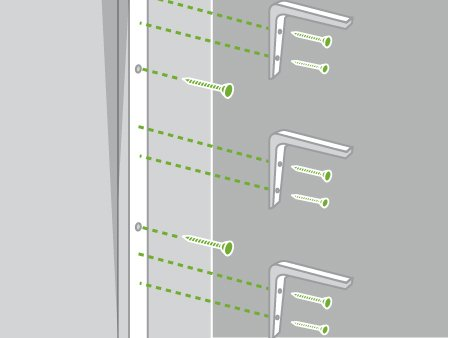 Comment monter une s rie d 39 tag res leroy merlin - Comment fixer etagere murale fixation invisible ...