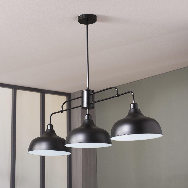 Une Suspension Noire Parfaite Avec La Verriere D Atelier Une Deco Industrielle Assuree Leroy Merlin