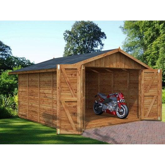 Garage, Carport, abri voiture au meilleur prix Leroy Merlin # Garages En Bois Préfabriqués