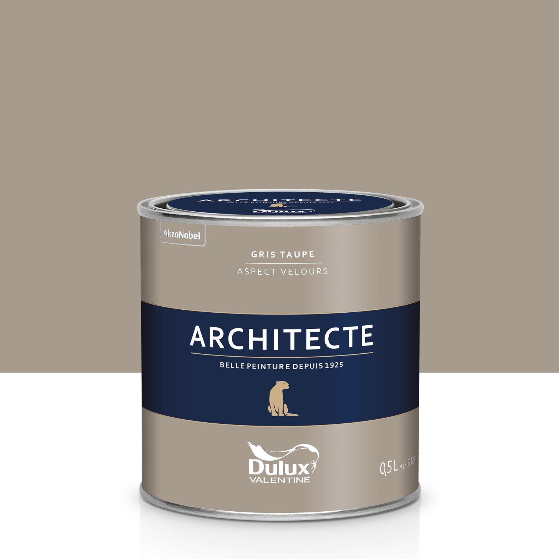 peinture gris taupe velours dulux valentine architecte 0 5. Black Bedroom Furniture Sets. Home Design Ideas