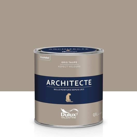 peinture gris taupe velours dulux valentine architecte 0 5 l leroy merlin. Black Bedroom Furniture Sets. Home Design Ideas