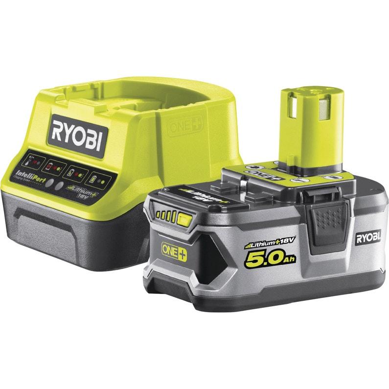 Chargeur Et Batterie Ryobi Rc18120150g 18 V 5 Ah