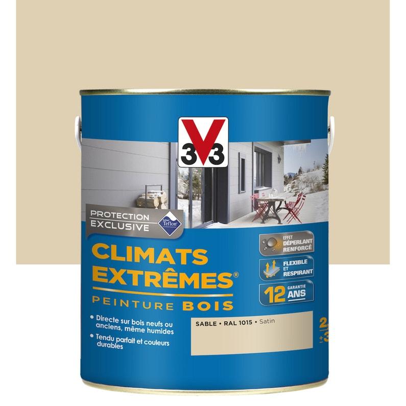 Peinture Bois Extérieur Climats Extrêmes Sable Satin V33 25 L