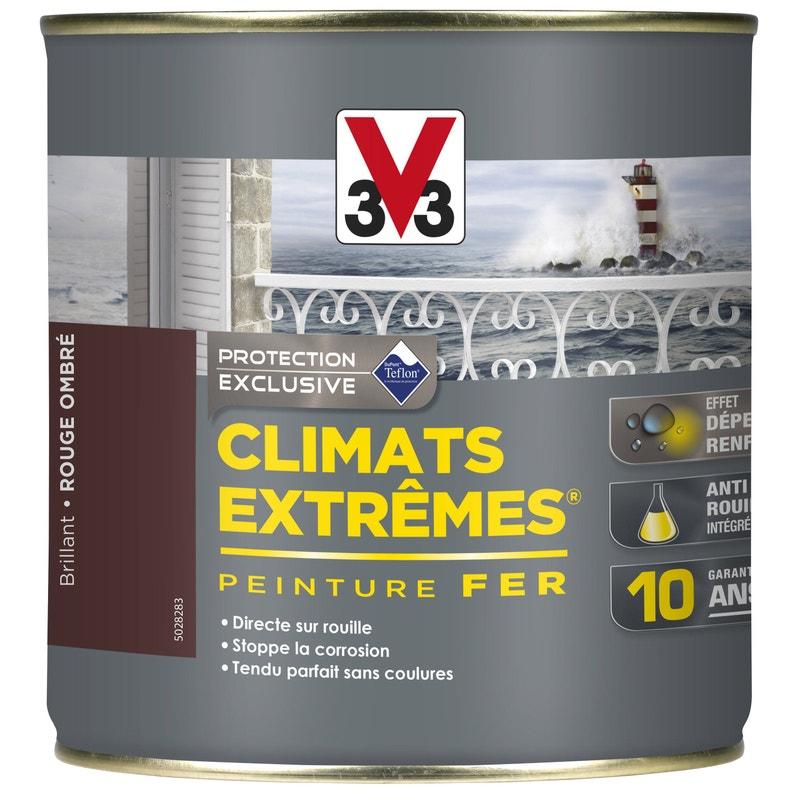 Peinture Fer Extérieur Climats Extrêmes V33 Rouge Ombré 05 L