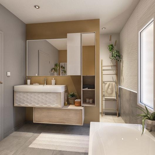 Meuble de salle de bains neo frame leroy merlin - Devis salle de bain leroy merlin ...
