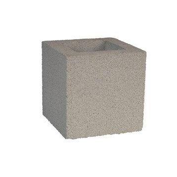 Pilier pilier portail b ton leroy merlin - Element de pilier 40x40 ...