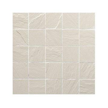 Mosa que et galets pour carrelage de salle de bains for Carrelage 5x5 blanc