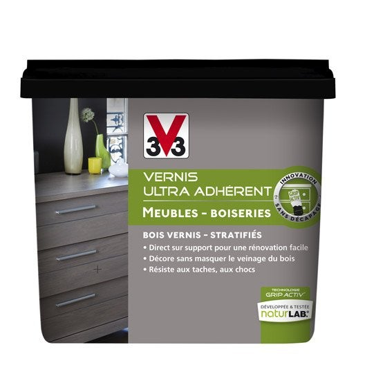 Vernis meuble et objets v33 taupe l ger l leroy merlin - Peinture relooking v33 ...