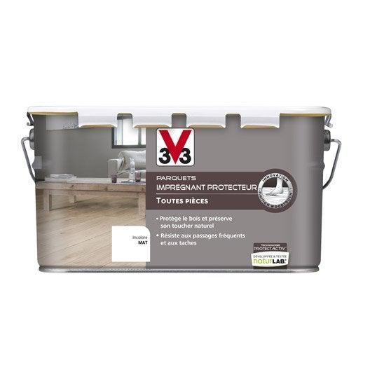 impr gnant parquet protect 39 activ v33 2 5 l incolore leroy merlin. Black Bedroom Furniture Sets. Home Design Ideas