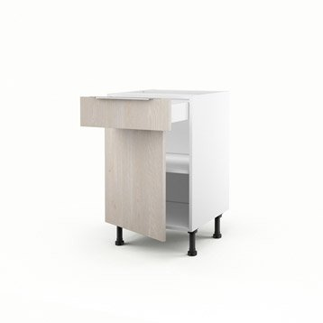meuble de cuisine décor bois delinia nordik | leroy merlin