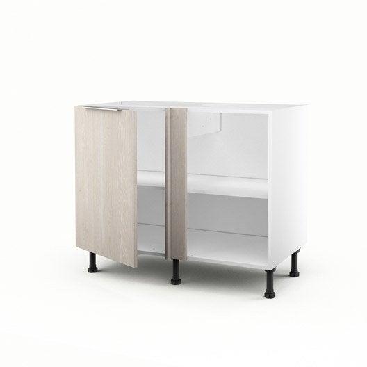 meuble de cuisine bas d 39 angle d cor bois 1 porte nordik x x cm leroy merlin. Black Bedroom Furniture Sets. Home Design Ideas