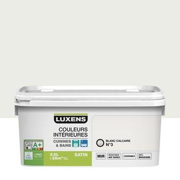 Peinture Couleurs intérieures LUXENS, Blanc calcaire 3, 2.5 l