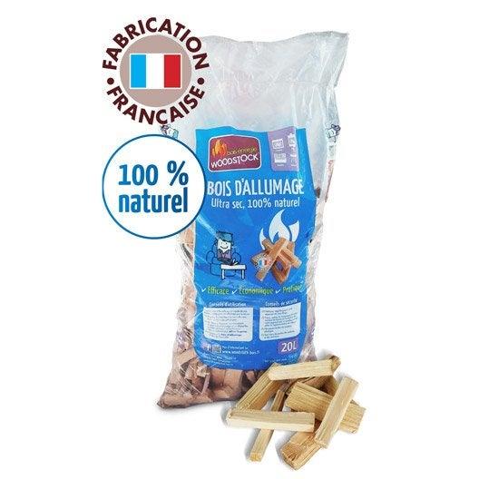 Bois d 39 allumage woodstock en sac 0 kg leroy merlin - Poids d un stere de bois sec ...