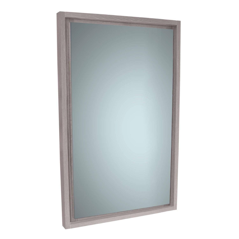 Miroir rectangulaire, l.50 x H.75 cm