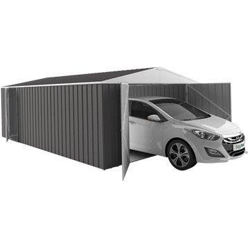 Garage métal Grande hauteur grande largeur easyshed 1 voiture, 19.24 m²