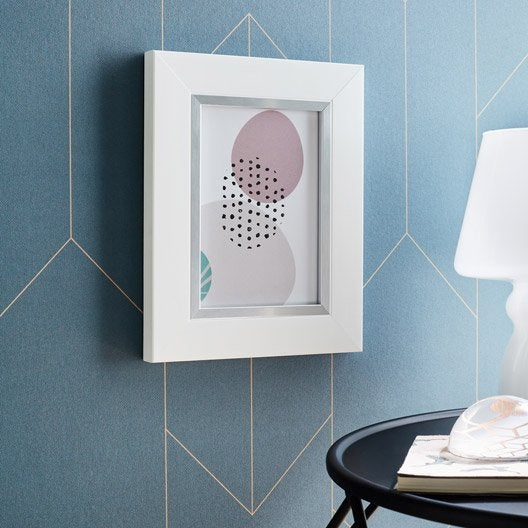 cadre pianura 20 x 30 cm blanc leroy merlin. Black Bedroom Furniture Sets. Home Design Ideas