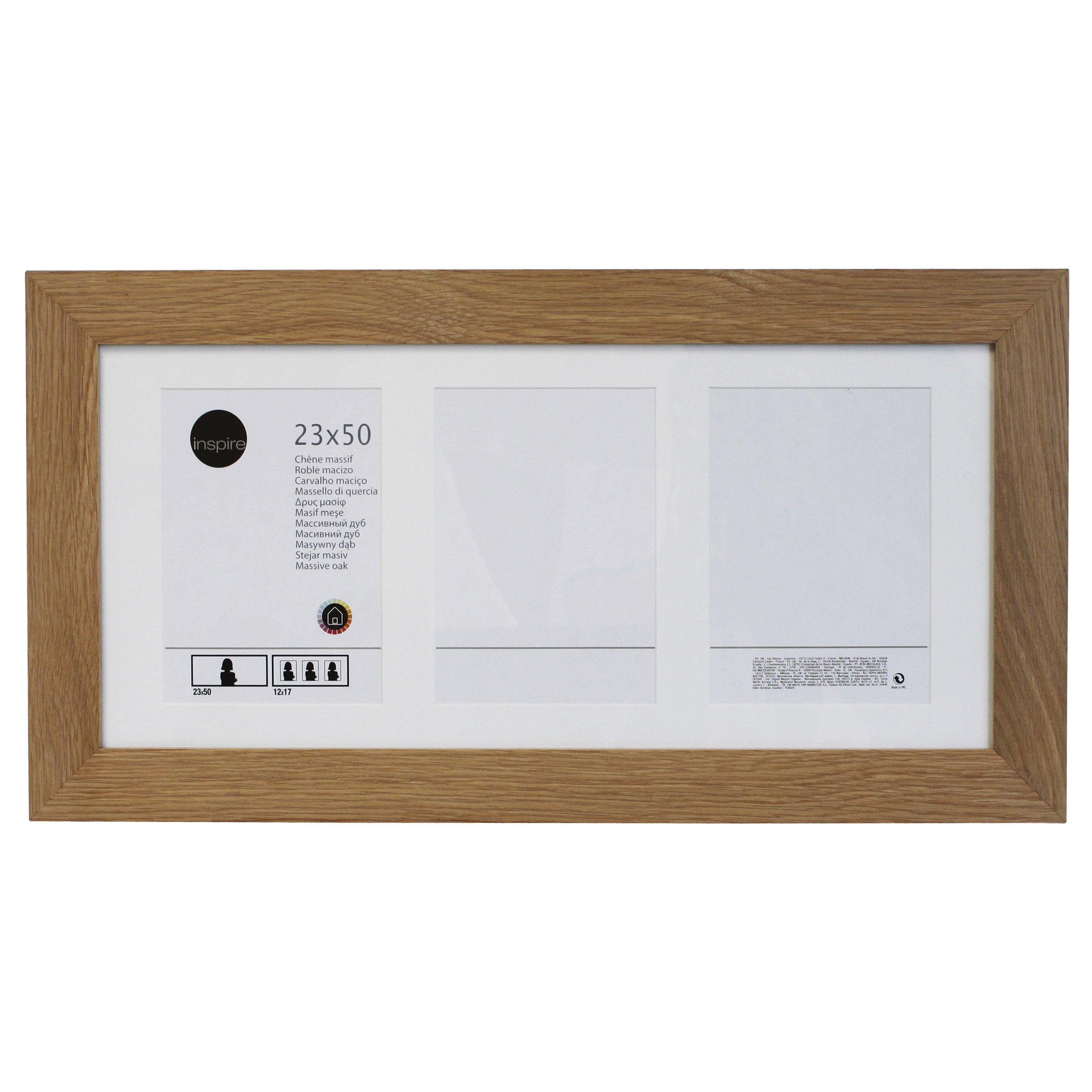 Cadre multivue Nakato, l.23 x H.50 cm, chêne clair