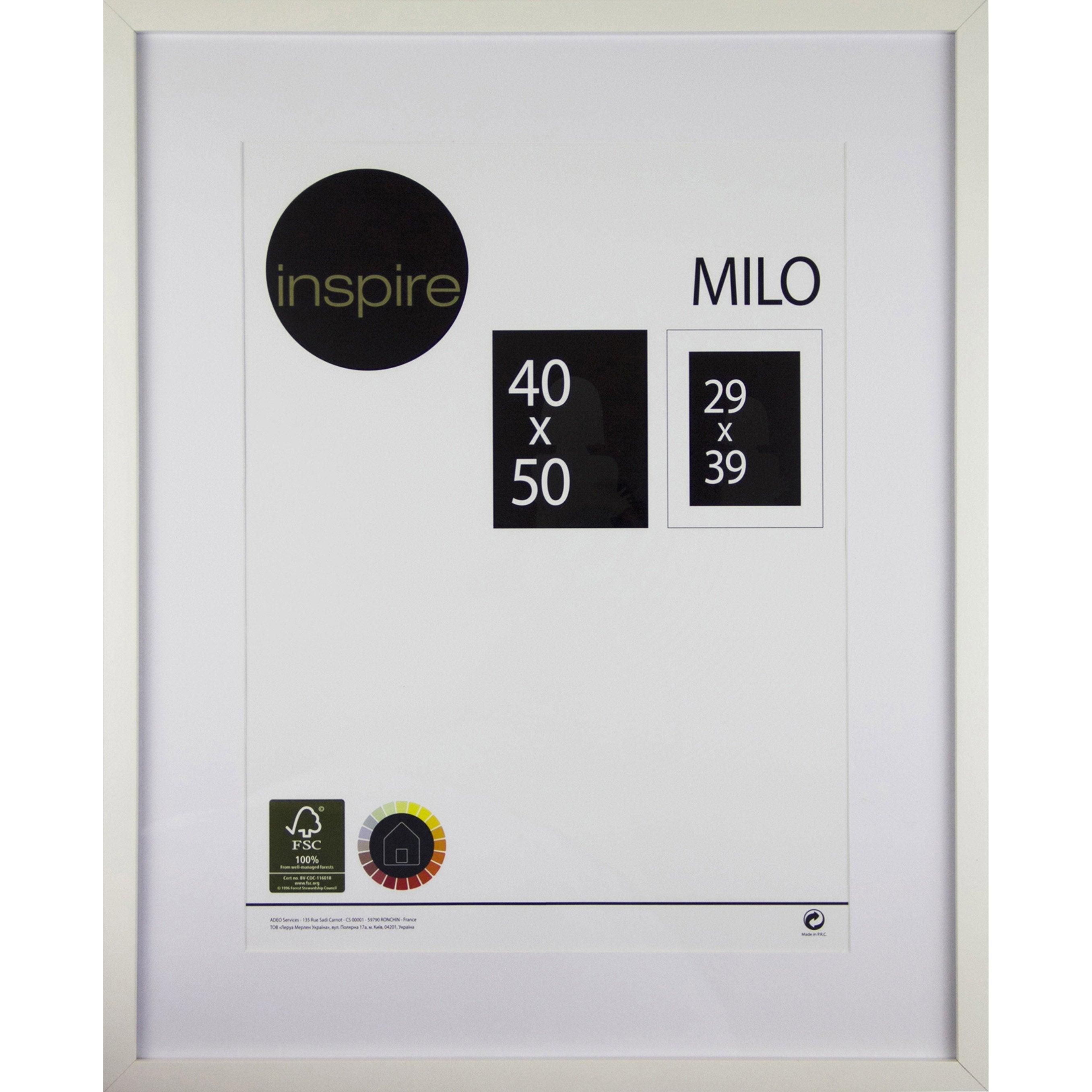 Cadre Milo, 40 x 50 cm, blanc