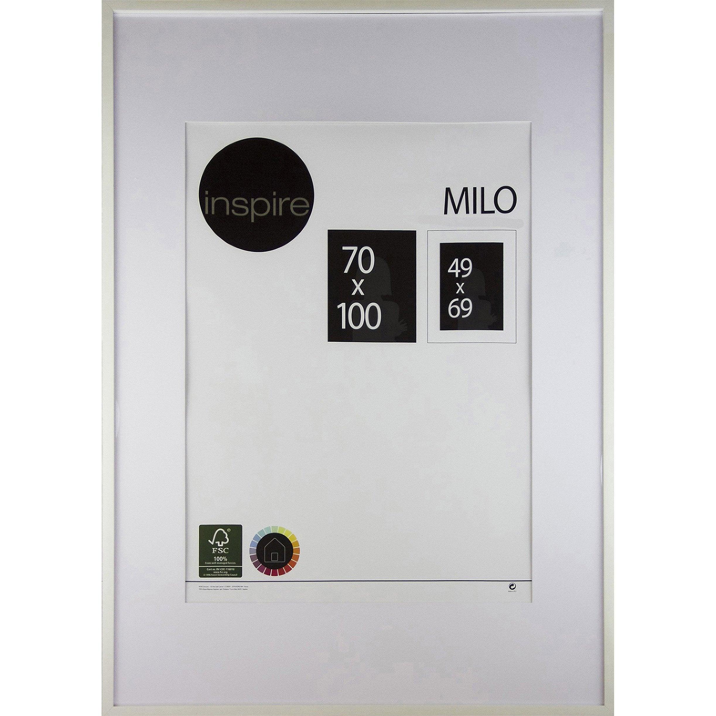 cadre milo 70 x 100 cm blanc leroy merlin