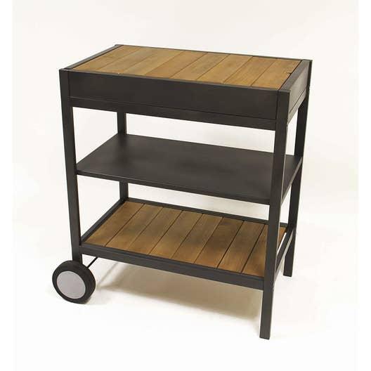 chariot naterial resort 0 br leurs noir et gris leroy. Black Bedroom Furniture Sets. Home Design Ideas