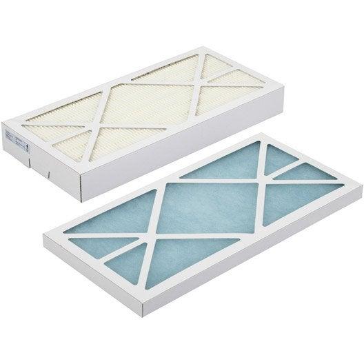 2 filtres antiallerg nes vmc pvc laine de verre s p eu4 eu7 leroy merlin. Black Bedroom Furniture Sets. Home Design Ideas