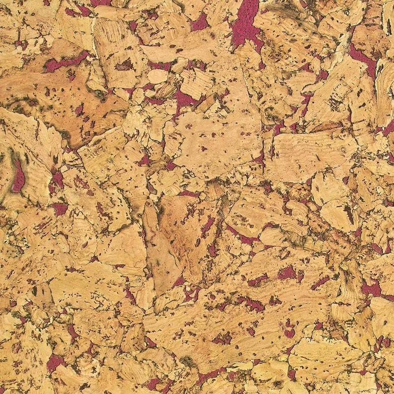 Décor de fond Lot-de-5-dalles-de-liege-murales-rouge-l-60-x-l-30-cm