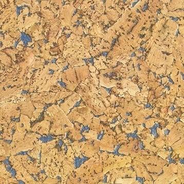 Dalle de liège murale, bleu, l.60 x L.30 cm