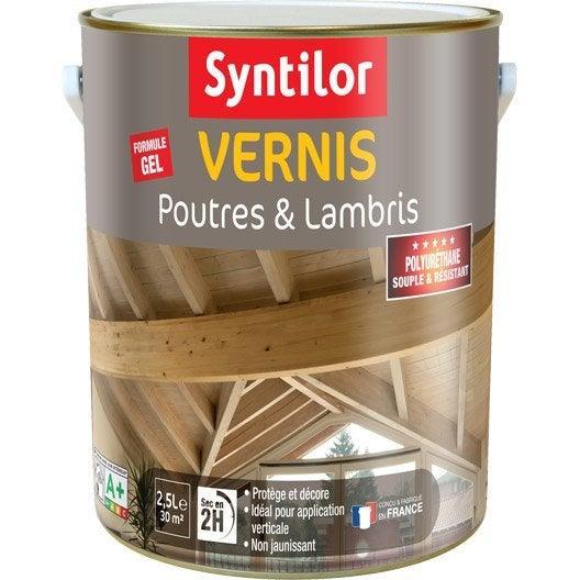 Vernis poutre et lambris syntilor incolore 2 5 l leroy - Peindre des lambris vernis ...