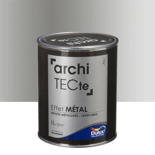 peinture effet architecte effet mtal dulux valentine gris aluminium 1 l