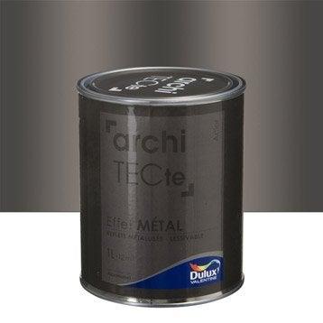 Peinture à effet, Architecte effet métal DULUX VALENTINE, gris acier, 1 l