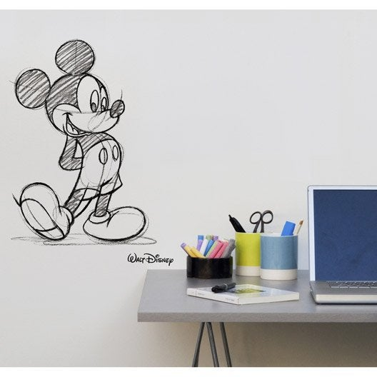 Sticker mickey transfert 49 cm x 69 cm leroy merlin - Stickers carrelage leroy merlin ...