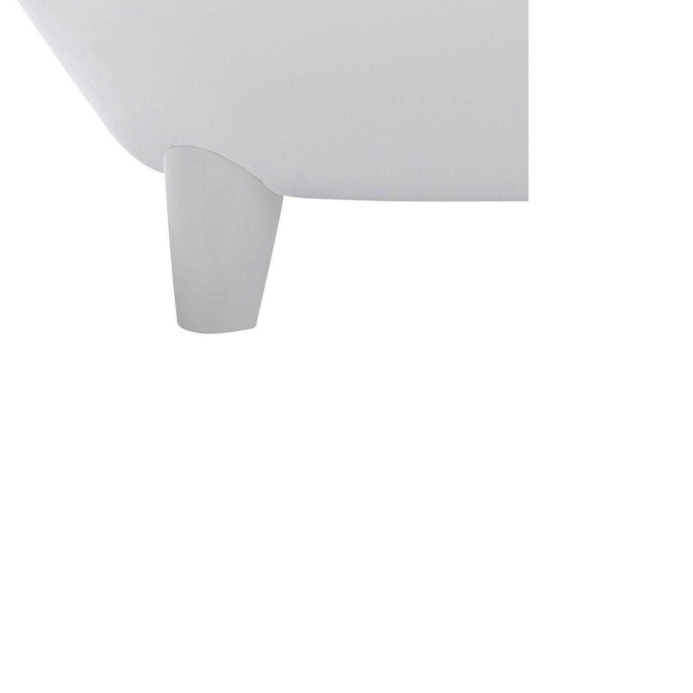 Pieds de baignoire L.19.5x l.13 cm blancs Charleston