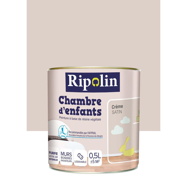 Peinture beige crème satin RIPOLIN Chambre enfants 05 l ...