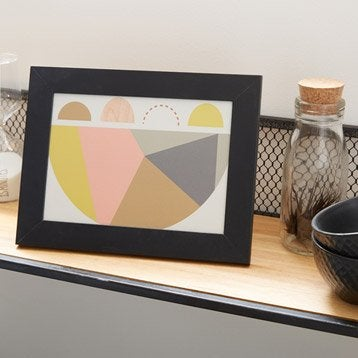Cadre Nina, 10 x 15 cm, noir