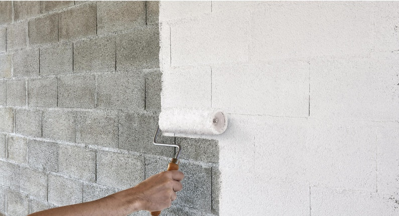 Peinture Blanc Mur Garagesous Sol V33 Mat 10 L Leroy Merlin