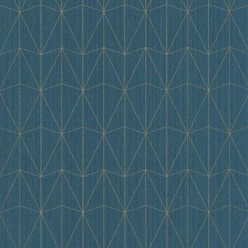 Papier Peint Bleu Et Or.Papier Peint Bleu Or Au Meilleur Prix Leroy Merlin