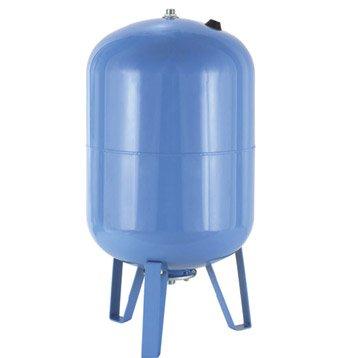 Réservoir vertical 100 L + membrane FLOTEC mâle 25 mm