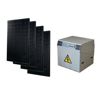 Kit solaire complet Power WATT&HOME 740W, onduleur 2000W, batterie 800Ah