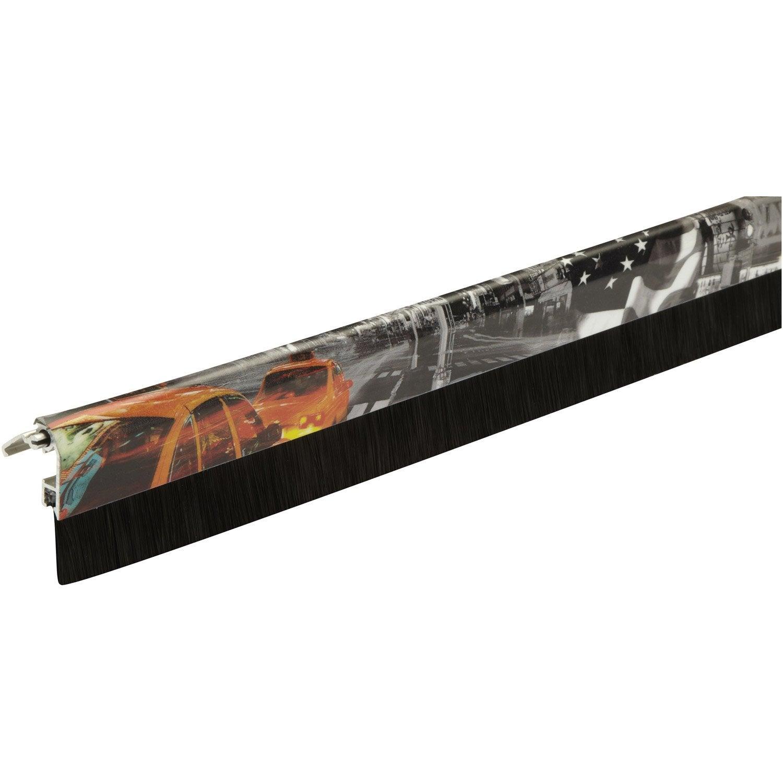 Bas De Porte à Visser New York Brosse PLASTO, L.93 Cm Motifs
