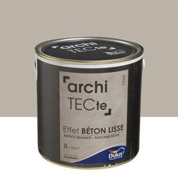 Peinture à effet, Architecte effet béton DULUX VALENTINE, grisé, 2 l
